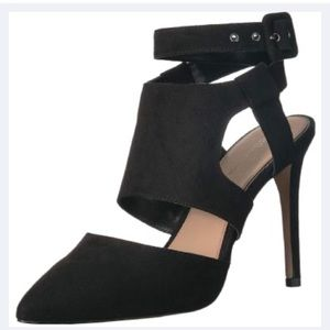 BCBGeneration Heather Microsuede Black Heels
